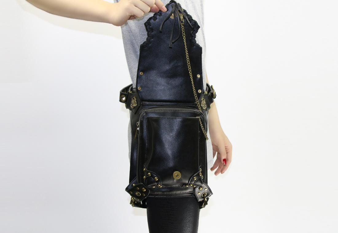WPYZL Multi - functional women 's shoulder oblique cross - chain package punk pockets by Bumbag&KAIMENDAJI (Image #9)