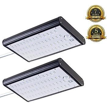 KUMEDA Solar Sensor Lights, Super Bright 56 LEDs Outdoor Waterproof Motion Sensor Light (4400mAh Battery Panel,700 Lumens)for Yard Garden Barn Porch Parking Lot Light (2-pack)