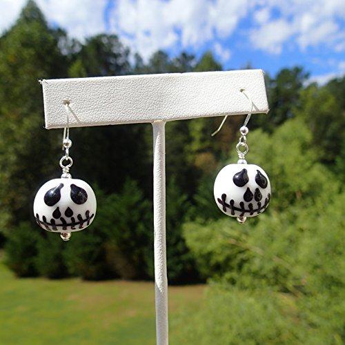 Halloween earrings - looks like Jack from A Nightmare Before Christmas (Halloween Looks)
