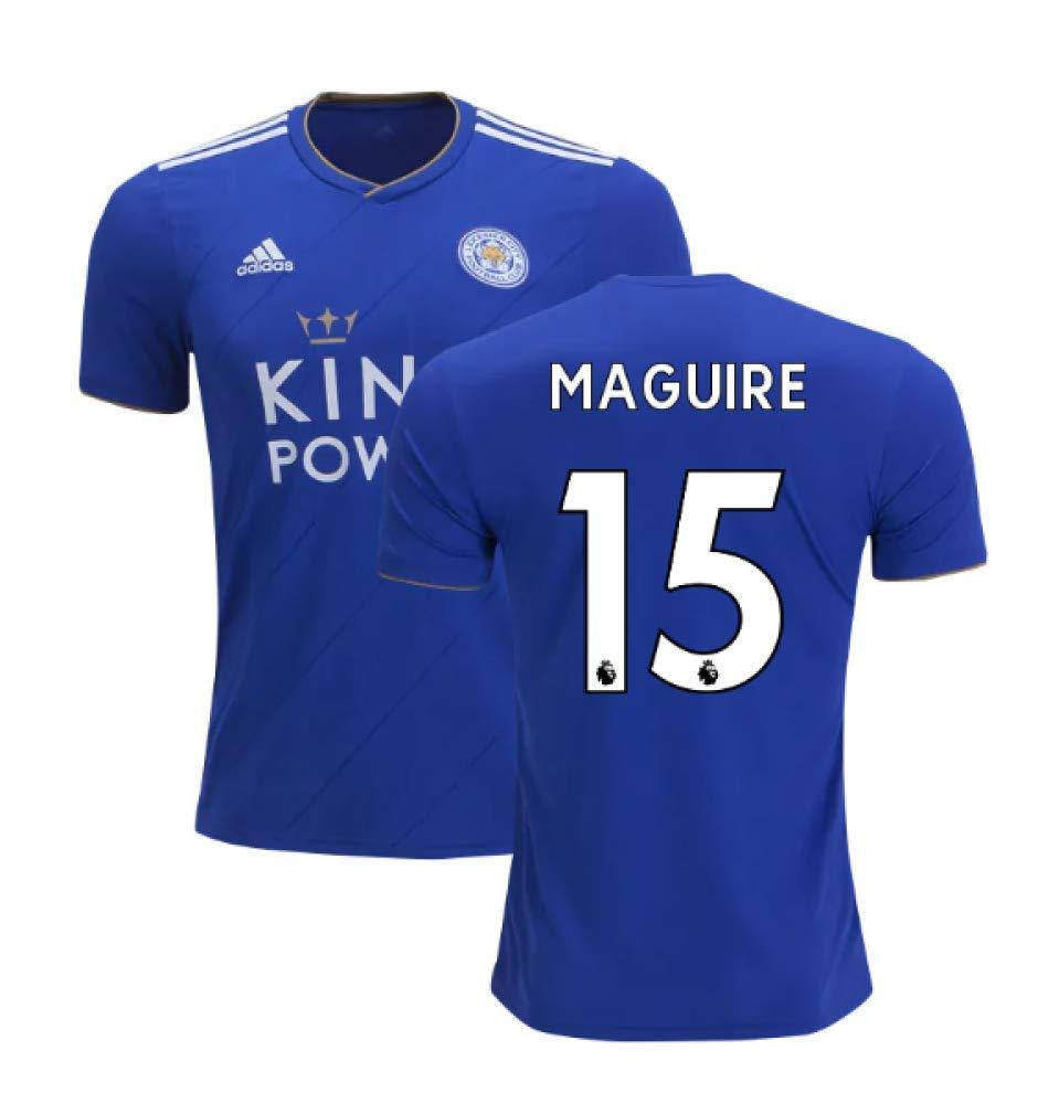 2018-2019 Leicester City Puma Home Football Soccer T-Shirt Trikot (Harry Maguire 15)