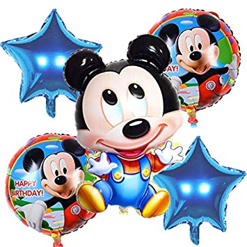 BAYUE Globos 5pcs / Set Cute Mickey y Minnie Star Heart ...
