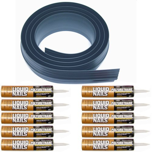 Auto Care Products Inc 51100 100-Feet Tsunami Seal Garage Door Threshold Seal Kit, Gray by Auto Care Products Inc.