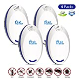 BASA 2018 Newest Ultrasonic Pest Repeller,Pest Repellent,4 Pack Pest Control,Insect Repellent,Electronic Plug in Indoor for Flies,Mosquito,Mice,Stink Bug,Fleas