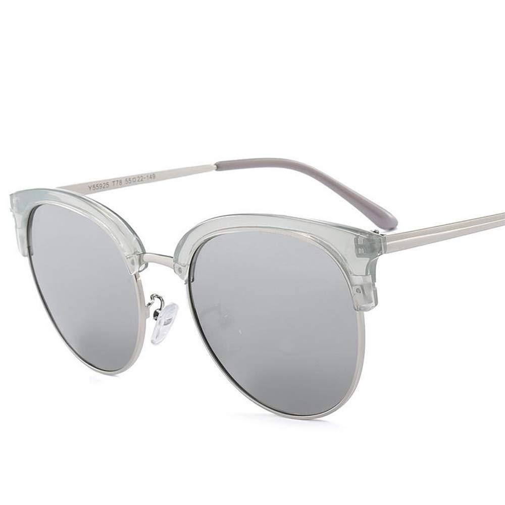GAOXP Semi sin Montura polarizadas Gafas de Sol de Las Mujeres Hombres Retro Gafas,5