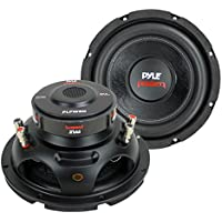 2) PYLE PLPW8D 8 1600W Dual Voice Coil 4-Ohm Car Audio Subwoofers Speakers