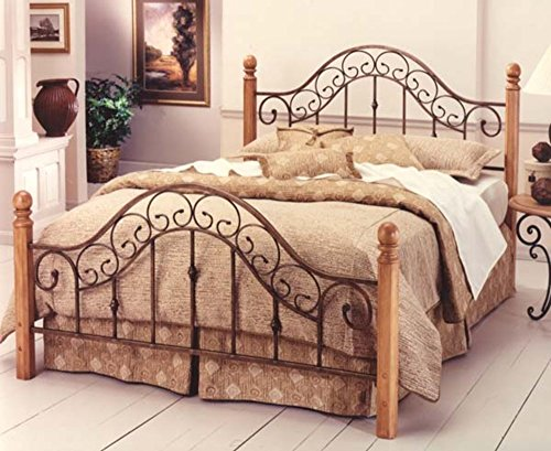 (Hillsdale Furniture 310BF San Marco Bed Set Without Rails, Full, Brown Copper)
