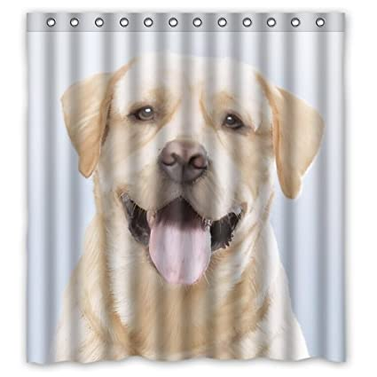 Attrayant Funny Lovely Labrador Dog Shower Curtain, Shower Rings Included 100%  Polyester Waterproof 66u0026quot;