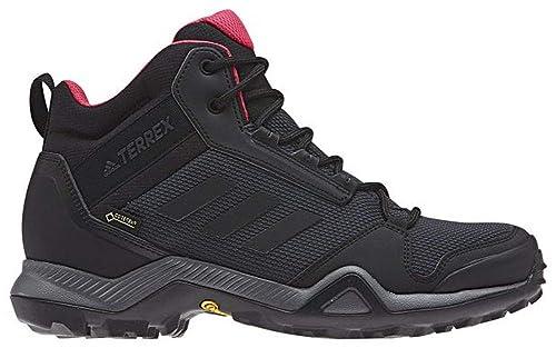 ba17a895ccb adidas outdoor Terrex Ax3 Mid GTX Womens Hiking Boot Carbon Black Active  Pink