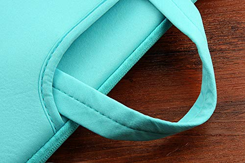 TechCode 15.6 inch Laptop Sleeve Case, Laptop Sleeve Foam Case Bag Multi-Functional Pocket Briefcase Outdoor Carrying Pouch Skin Cover for 15.6 Inch Laptops Notebook Computers Ultrabooks (Light Blue) by TechCode (Image #5)