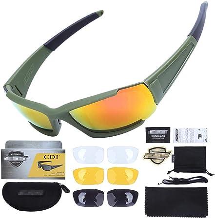 Gafas polarizadas para ciclismo deportivo al aire libre para hombres y mujeres, juego de gafas de sol retro con lentes 3 en 1 para PC, funciones múltiples anti-ultravioleta / antideslumbrante / anti: