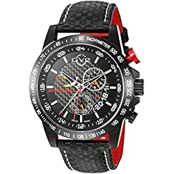 GV2 by Gevril Men's 9900 Scuderia Analog Display Swiss Quartz Black Watch
