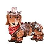 Dachshund Cowboy Dog Statue