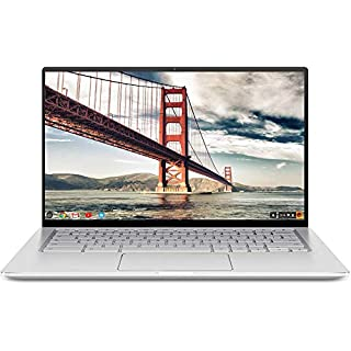 "ASUS Chromebook Flip C434 2-In-1 Laptop- 14"" Full HD 4-Way NanoEdge Touchscreen, Intel Core M3-8100Y Processor, 8GB RAM, 64GB eMMC Storage, Backlit KB, Chrome OS- C434TA-DS384T Silver"