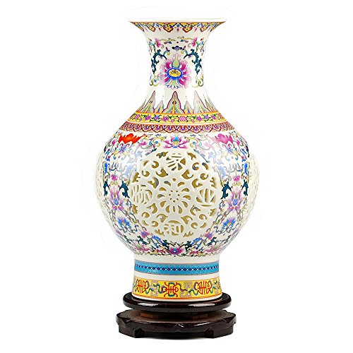 Awayyang Traditional Chinese Ceramic Decorative Jar Vase,Jingdezhen Oriental Handcrafted Porcelain - Hand Painted Urn Table Lamp