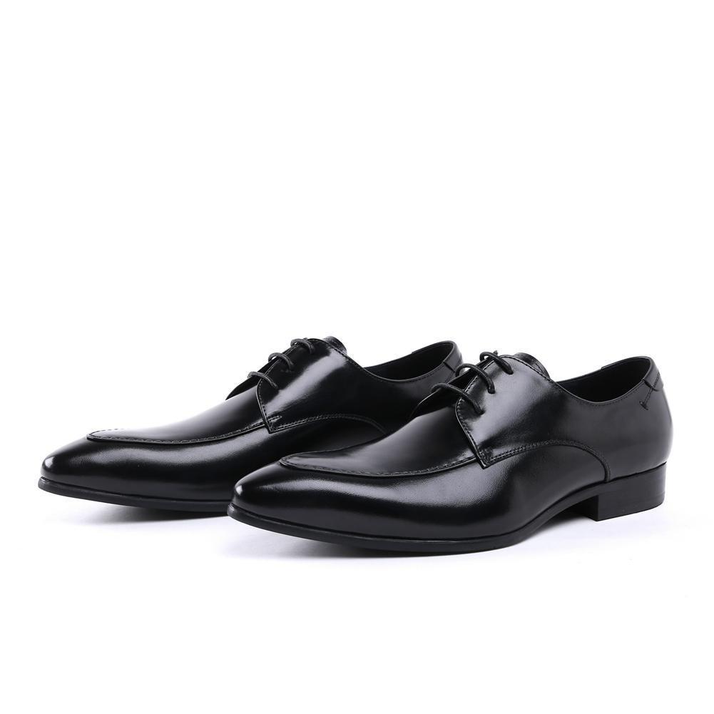 XIE Männer Hochzeit Kleid Schuhe Schnüren Geschäft Spitze Zeh Schwarz Formal Geschäft Schnüren Lässig Bequem Leder Oxford für Männer Braun Arbeit Größe 38-44 - bf1b75