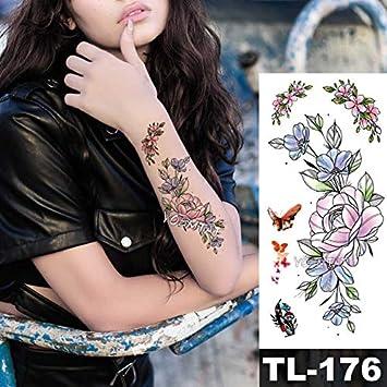 HXMAN 5 Unids Flor Grande Impermeable Falso 3d Rosa Temporal ...