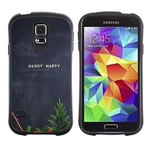 """Pulsar iFace Series Tpu silicona Carcasa Funda Case para Samsung Galaxy S5 , Feliz feliz Navidad pizarra del profesor"""""""