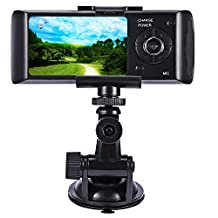 NEWBEN Car DVR Dash Accident Camera with Night Vision, 2.7inch Dual Lens LCD display Video Recorder with G-Sensor Motion Detection