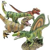Boley (4-Pack 12'' JUMBO MONSTER Authentic Dinosaur Set - Dinosaur Toy Playset Great as Kids Dinosaurs, Dinosaur Party Favors, and Dinosaur Party Supplies