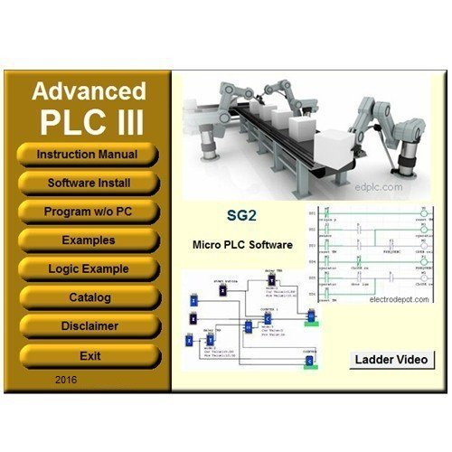 PLC 3 Programming Software Ladder and Logic. Virtual PLC Simulation Examples Manuals by plc3usb