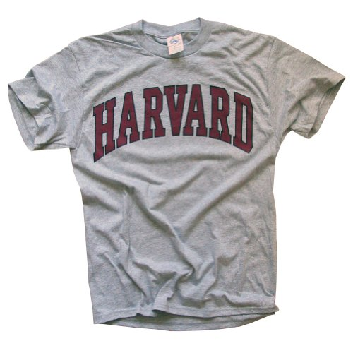 Harvard University T-Shirt - Arched Block - Grey -S
