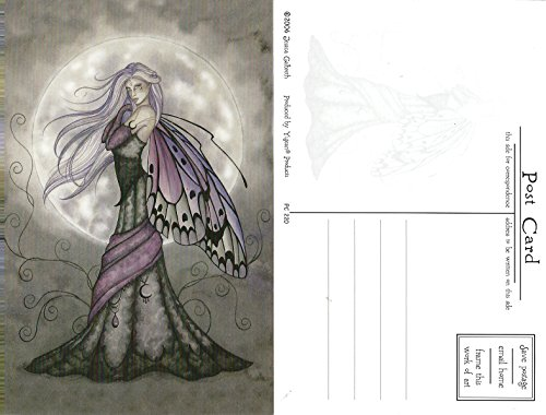 Butterfly Wings Postcard - Silver Moon Fairy Jessica Galbreth Postcard 4