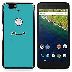 Eason Shop / Premium SLIM PC / Aliminium Casa Carcasa Funda Case Bandera Cover - Sir Monocle Hipster - For Huawei Google Nexus 6P