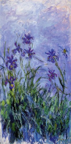 Lilac Irises by Claude Monet - 15