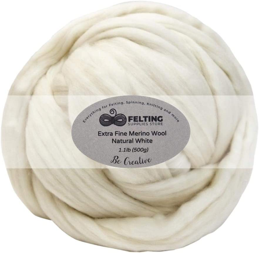 Wool Fiber for Spinning Boogie 100/% Merino Wool roving top Fiber 30 Colors Needle and Wet Felting 5 g Each