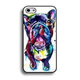 Fashion Bright Colorful Painted French Bulldog Phone Case Cover for Iphone 6 / 6s ( 4.7 Inch ) Pet Dog Unique Shell