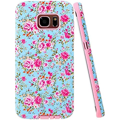 Galaxy S7 Edge Case, S7 Edge Case, Style4U Flower Design Slim Fit Hybrid Armor Case for Samsung Galaxy S7 Edge Sales