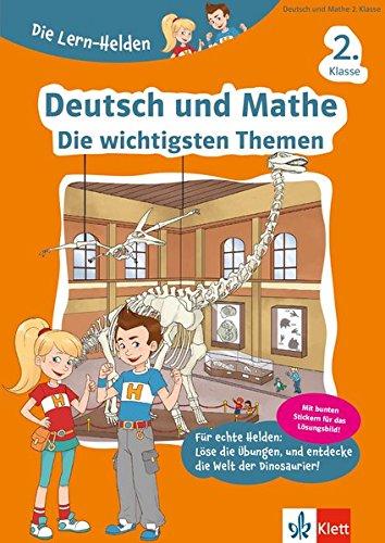Klett Die Lern-Helden Deutsch und Mathe - Die wichtigsten Themen 2. Klasse: Deutsch und Mathematik, Grundschule