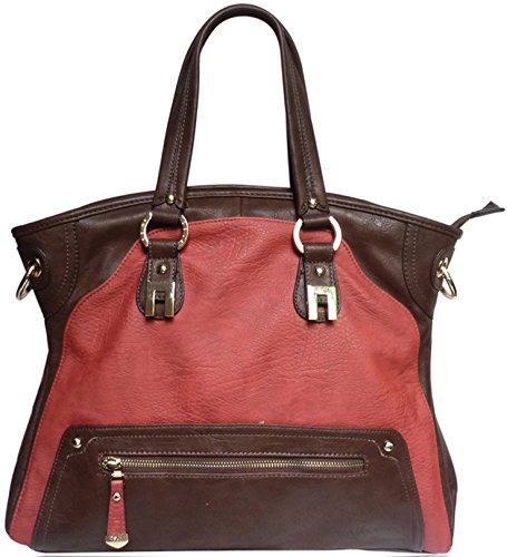 DSUK K5363 - Bolsa de Material Sintético Mujer Rojo