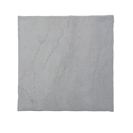 Flat Rock Grey Plastic Resin Lightweight Duty Patio Paver
