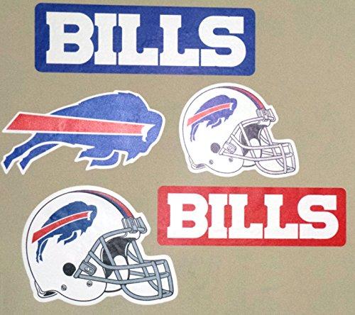 Buffalo Bills FATHEAD Team Set of 5 Bills Logo Helmet Signs Official NFL Vinyl Wall Graphics 9