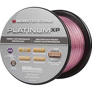 monster cable mc plat xpms 20 ww platinum xp clear jacket compact speaker cable. Black Bedroom Furniture Sets. Home Design Ideas
