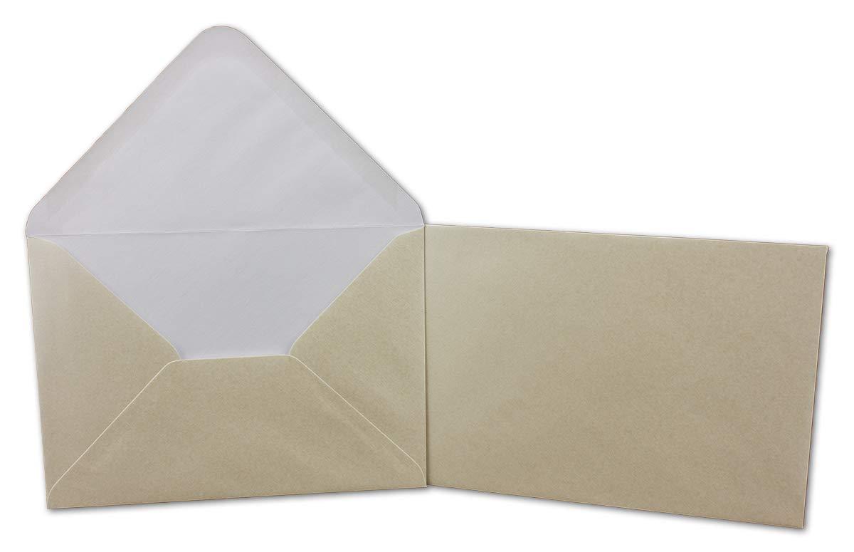 200 Klapp-Karte Umschlag Set DIN A6 C6 Creme Elfenbein Elfenbein Elfenbein matt glänzend - Karte A6 10,5 x 14,7 cm Umschlag C6 11,5 x 16 cm - Eine Karte-Umschlag-Kombination der Premium-Klasse B07KB2GZS8 | Flagship-Store  f94052
