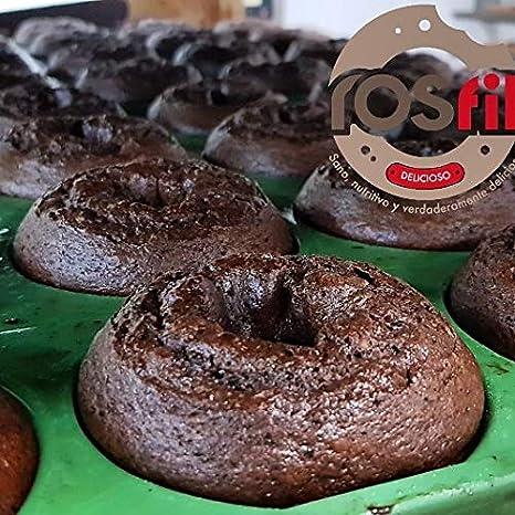 Rosquilla Tipo Donut Saludable Siempre Tiernas Donnut - Bolleria Artesanal 100% Original Alto en Proteinas Sin Colesterol - Fitness Healthy (BLACK ...