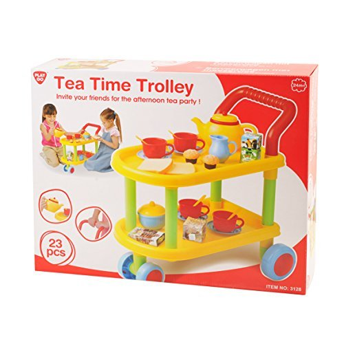 23piece Tea Time Trolley Set by PlayGo