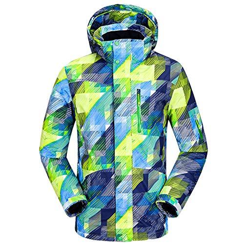 Skisuit 2019 Men Winter Warm Breathable Ski Suit Mountain Hiking Thickening Waterproof Windproof Jacket Green L