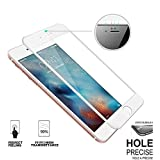 """iPhone 7│8 [White] 3D Curved Screen Protector Edge 9H Hardness HD Tempered Glass Screen Protector [Anti-Scratch-Crystal Clear] [4.7"""" inch]"""