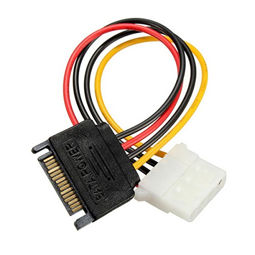 SATA 15 Pins to IDE 4 Pins HDD Power Adapter Cable Lead Wire For PC Hard Drive (Sony Fire Wire 4 Pin)