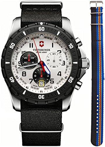 Victorinox Men's 241680.1 Analog Display Swiss Quartz Black Watch (Chronograph Pvd Swiss)