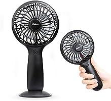 Ventilador de Mano Mini Ventilador Mudo Estupendo Portátil y Ventilador de Multiple Velocidad Negro