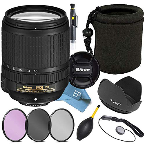Nikon 18-140mm f/3.5-5.6G ED VR AF-S DX NIKKOR Zoom Lens – (White Box)