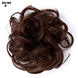 1 piece Curly Updo Cover Donut Chignon Hairpieces Black Brown Blonde Drawstring Ponytail Synthetic Hair Bun