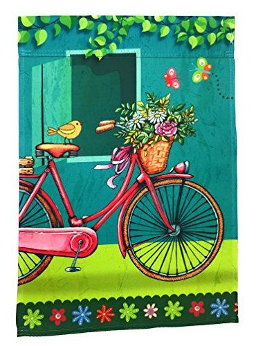 Garden Bicycle (Lantern Hill Premium Garden Flag Yard Decoration; 12