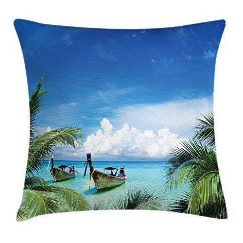 Bair89Pulla - Funda de cojín de Viaje, diseño Hawaiano ...