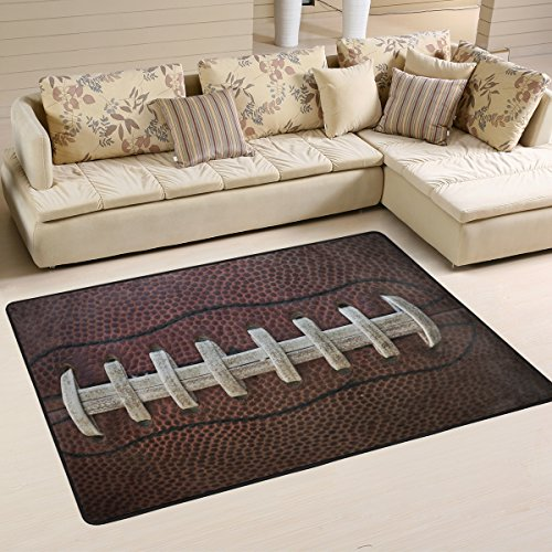 (XiangHeFu Area Rugs Doormats American Football Soft Carpet Mat 6'x4' (72x48 Inches) for Living Dining Dorm Room Bedroom Home Decorative)