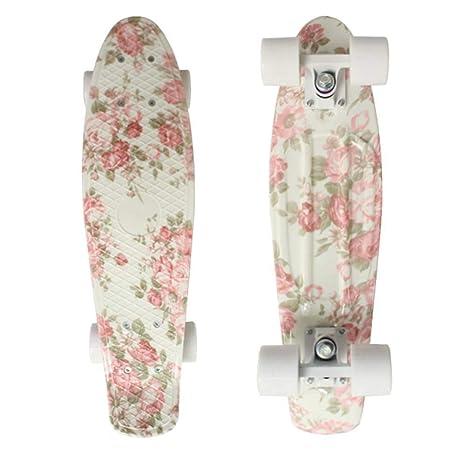 GDYYZYQ Cruiser Board Plastic Skateboard Retro Longboard ...